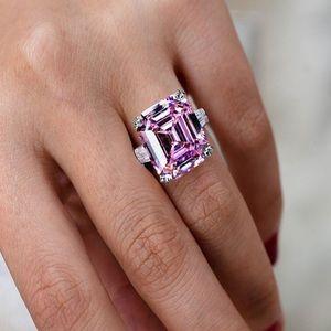 ✨Princess Cut 12CT Pink Engagement Ring✨